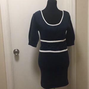 Aryeh Anthropologie brand tunic navy & white dress